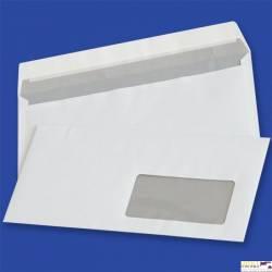 Koperty DL samoklejące z paskiem HK białe 80g okno prawe 45x90mm (op. 1000 szt.) NC 11232210