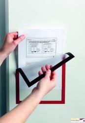 Ramka magnetyczna formatu A4 czerwona DURABLE 486903
