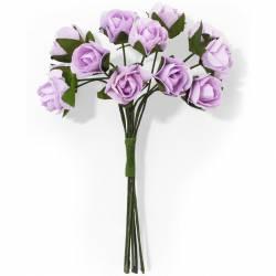 Kwiaty papierowe RÓŻE bukiet różowy 12szt. 252006 Galeria Papieru