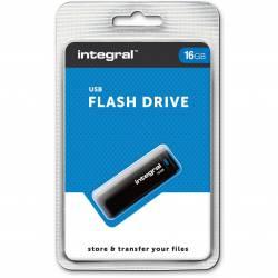 Pamięć USB INTEGRAL 16GB USB 2.0 czarna INFD16GBBLK