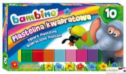 Plastelina BAMBINO 10 kol. Kwadrat *2823 ST.MAJEWSKI
