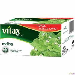 Herbata VITAX MELISA 20 torebek1,5g ziołowa bez zawieszki