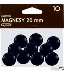 Magnesy 20mm GRAND czarne    (10)^ 130-1687