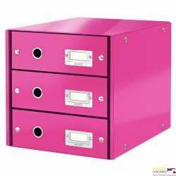 Pojemnik z 3szufladami różowy 60480023  ESSELTE
