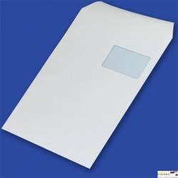 Koperty C4 samoklejące SK białe z oknem po prawej stronie na dole 55x90mm (op. 250 szt.) 90g NC